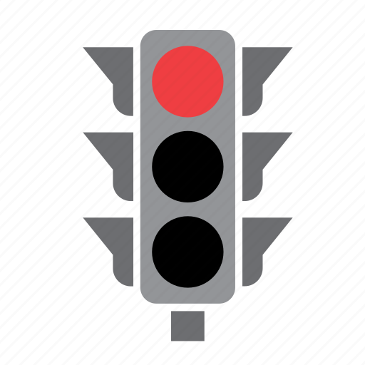 car, circulation, light, red, traffic icon