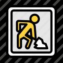 construction, board, road, traffic, sign
