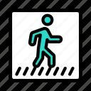 road, sign, traffic, pedestrian, crosswalk