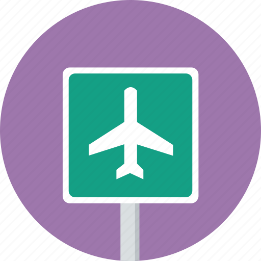 airport, direction, sign, traffic icon