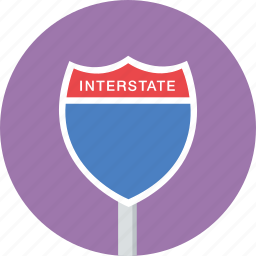 highway, interstate, sign, traffic icon