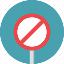 prohibition, sign, traffic, warning icon