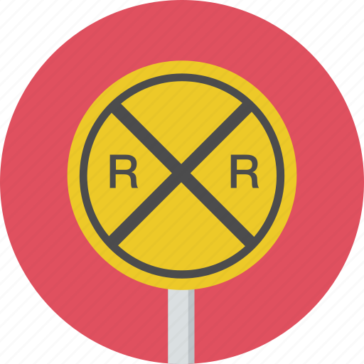 caution, railroad, sign, traffic, warning icon