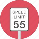 highway, limit, sign, speed, traffic icon