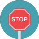 sign, stop, traffic, warning icon