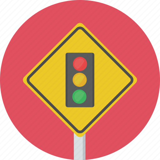 light, sign, traffic, traffic light, warning icon