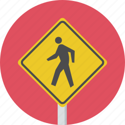 pedestrain, sign, traffic, walking, warning icon