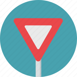 sign, traffic, triangle, warning, yield icon