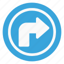 arrow, direction, right, sign, traffic, turn icon