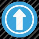 arrow, direction, sign, straight, traffic icon