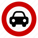 no car, prohibit, regulatory, sign, traffic icon