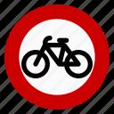 no bicycle, prohibit, regulatory, sign, traffic icon