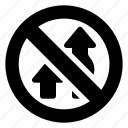arrow, overtaking, regulatory, sign, traffic icon