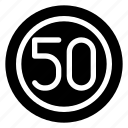 limit, regulatory, sign, speed, traffic icon