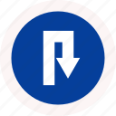 arrow, back, semicircular, turn icon