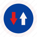 advantage, drive, road, sign icon