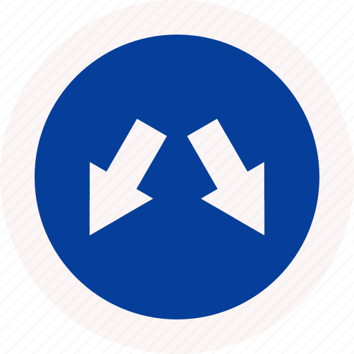 arrow, dubble, traffic, two, way icon