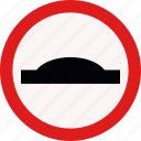 alert, bump, traffic, tumb icon