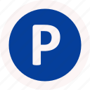 car, garage, parking, traffic icon