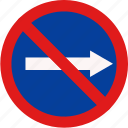 forbid, prohibited, road, traffic icon