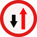 drive, path, road, traffic icon
