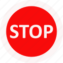 drive, sign, stop, traffic icon