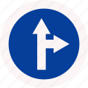 ride, separate, sign, way icon