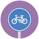bicycle, bike, sign, traffic sign icon