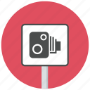 camera, sign, speed camera, traffic sign icon