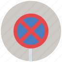 clearway, no stopping, traffic sign, warning, warning sign icon