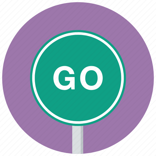 go, green, traffic sign icon