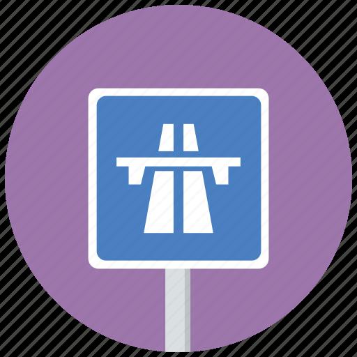 highway, motorway, traffic sign icon
