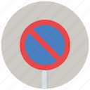no waiting, traffic sign, warning, warning sign icon