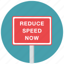 reduce speed, speed, traffic sign, warning, warning sign icon