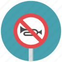 horn, horn prohibit, no horn, prohibit, traffic sign, warning sign icon