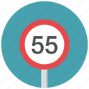 maximum speed, speed, speed limit, traffic sign, warning sign icon