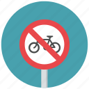 bicycle, bicycle prohibit, no bicycle, prohibit, traffic sign, warning sign icon