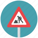 construction, construction ahead, road works, road works ahead, traffic sign, warning sign icon