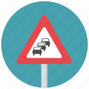 traffic jam, traffic queue, traffic queue ahead, traffic sign, warning sign icon