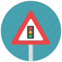 speed, traffic light, traffic light ahead, traffic sign, traffic signal, traffic signal ahead, warning sign icon