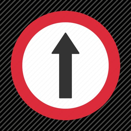 straight, traffic sign, warning, warning sign icon