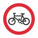 bicycle, bike, traffic sign, warning, warning sign icon