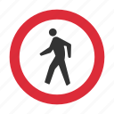 caution, crossing, pedestrian, reduce speed, speed, warning, warning sign icon