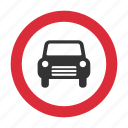 auto, automobile, car, traffic sign, warning sign icon