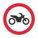 motorcycle, traffic sign, warning, warning sign icon