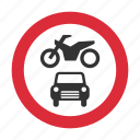 motor vehicles, no motor vehicles, traffic sign, vehicles, warning sign icon