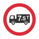 gross weight, maximum weight, traffic sign, warning sign, weight, weight limit icon