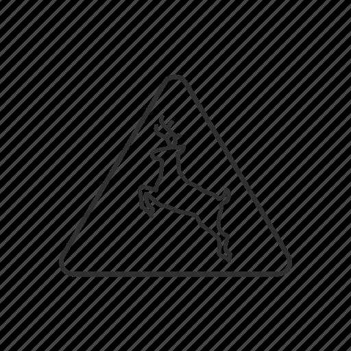 Crossing, deer, deer crossing, road sign, sign, traffic, warning icon - Download on Iconfinder