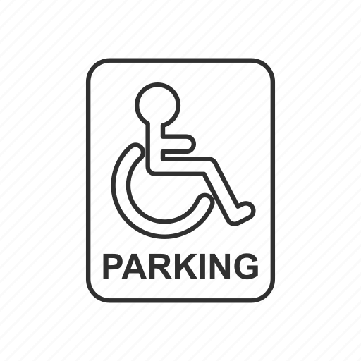 Caution, handicap, handicap parking only, parking, sign, traffic, warning icon - Download on Iconfinder
