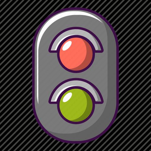 Cartoon, construction, danger, light, railroad, railway, traffic icon - Download on Iconfinder